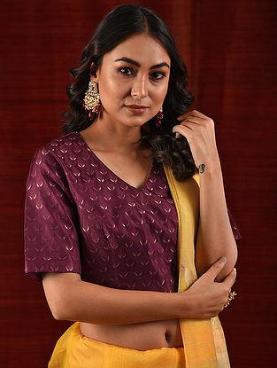 VIJAYA - Maroon Handloom Benarasi Silk Brocade Blouse