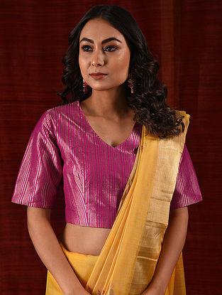 MAI BHAGO - Pink Handloom Benarasi Silk Brocade Blouse