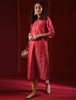 LAKSHMI BAI - Red Handloom Benarasi Silk Brocade Kurta