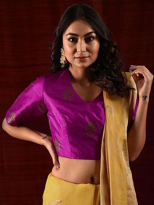 JIJABAI - Pink Handloom Benarasi Silk Brocade Blouse