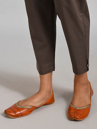 Grey Elasticated Waist Cotton Pant