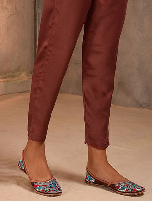 Rust Elasticated Waist Modal Pants