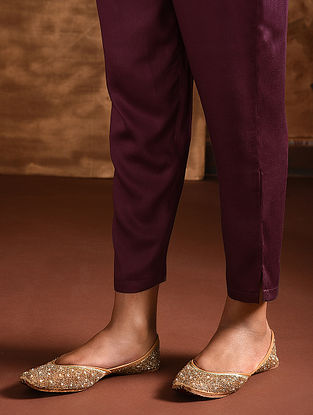 Maroon Elasticated Waist Modal Pants