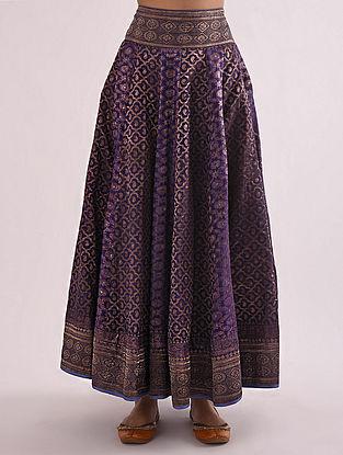 Purple Vintage Banarasi Silk Brocade Lehenga