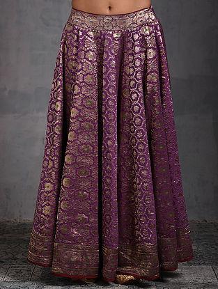Purple Vintage Benarasi Silk Brocade Lehenga