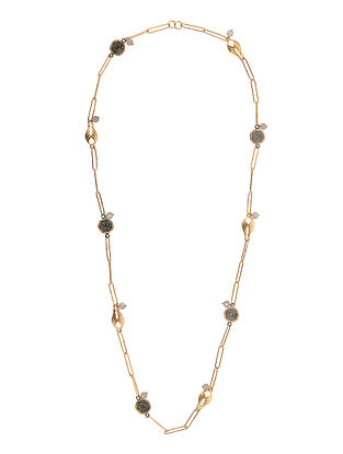 Dual Tone Handcrafted Necklace with Labradorite