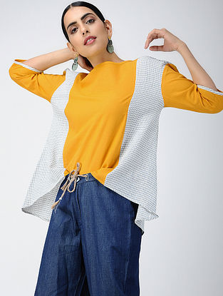 Yellow-Ivory Cotton Top