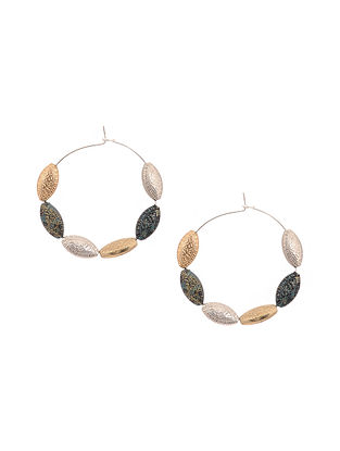 Dual Tone Handcrafted Hoop Earrings