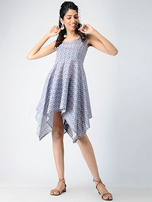 Grey Printed Cotton Dress