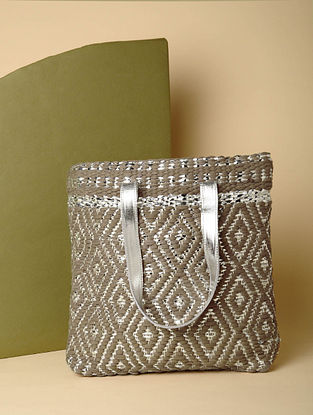 Brown Handcrafted Recycled Cotton Tote Bag