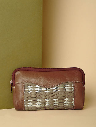 Tan Handcrafted Leather Pouch