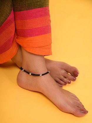Black Thread Silver Anklet