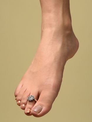 Tribal Silver Adjustable Toe Ring