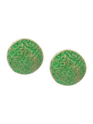 Green Clay Earrings