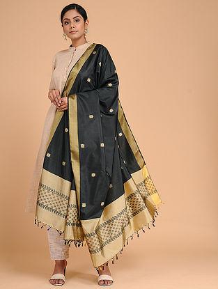 Black-gold Silk Baluchari Dupatta