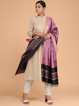Purple-Black Silk Baluchari Dupatta