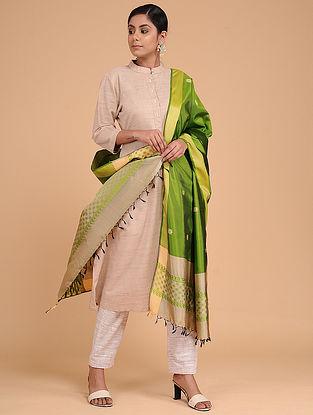 Green Silk Baluchari Dupatta
