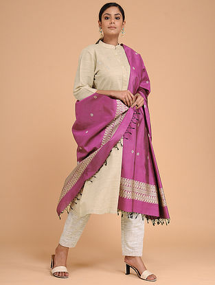 Pink Silk Baluchari Dupatta