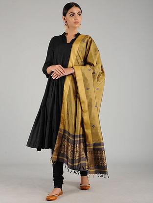 Beige Baluchari Pure Silk Dupatta