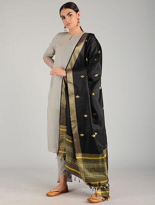 Black Baluchari Pure Silk Dupatta