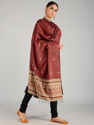 Red Baluchari Pure Silk Dupatta