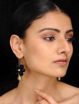 Black Gold Tone Dhokra Earrings