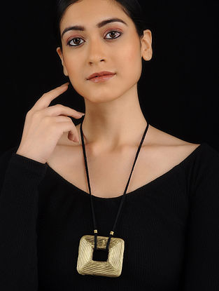 Gold Tone Brass Necklace