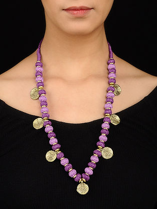Purple Gold Tone Necklace