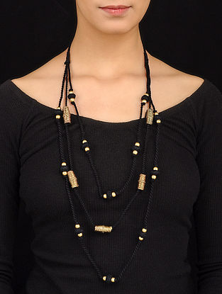 Black Gold Tone Necklace