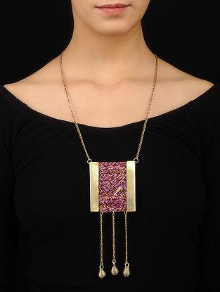 Multicolored Gold Tone Necklace