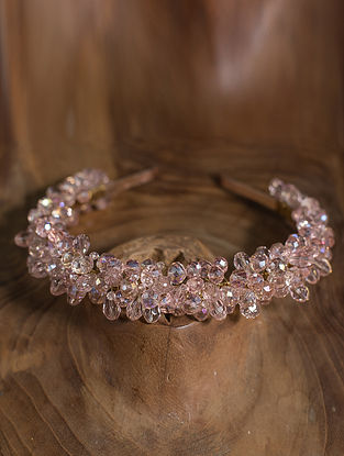 Pink Crystal Beaded Hairband