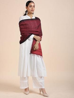 Maroon-Red Handloom Cotton Dupatta