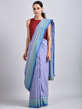 Blue Handwoven Cotton Saree
