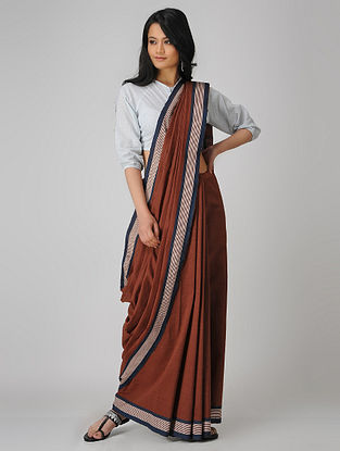 Red-Blue Malkha Saree
