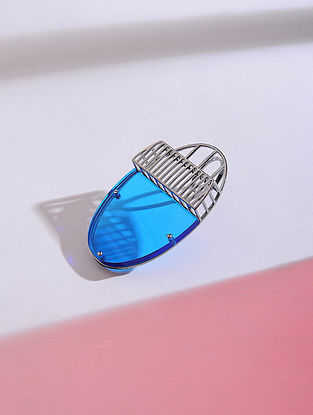 Blue Silver Ring (Ring Size - 6)