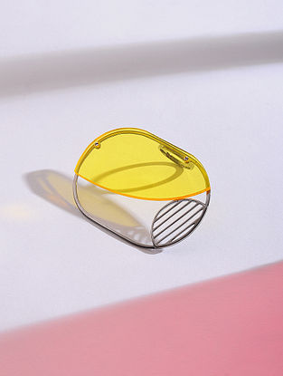 Yellow Silver Ring (Ring Size - 6.5)