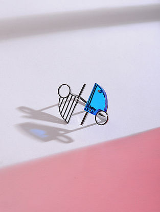 Blue Silver Ring (Ring Size - 6.5)