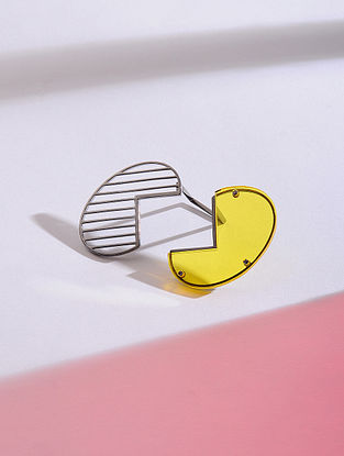 Yellow Silver Ring (Ring Size - 6)