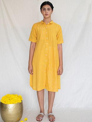 Marigold Cotton Zari Shirt Dress