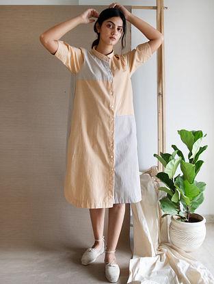 Beige Tan Cotton Dress
