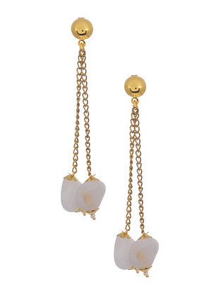 White Gold Tone Handcrafted Earrings
