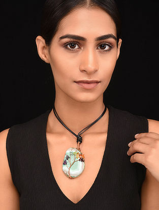 Multicolored Copper Tone Handcrafted Necklace