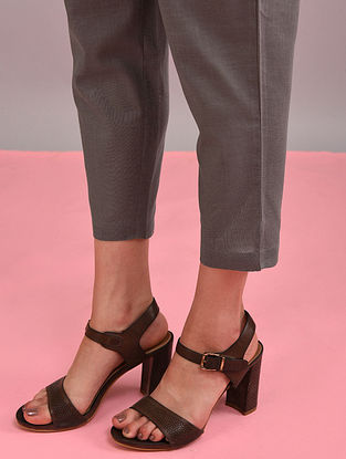 Charcoal Elasticated Waist Cotton Pants