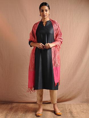 Black Tussar Cotton Kurta with Lace