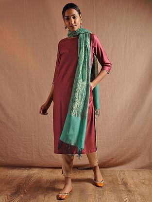 Maroon Tussar Cotton Kurta with Lace