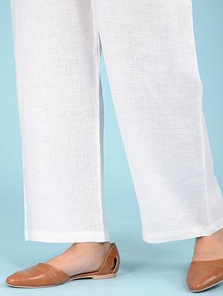 Ivory Elasticated waist Linen Pants