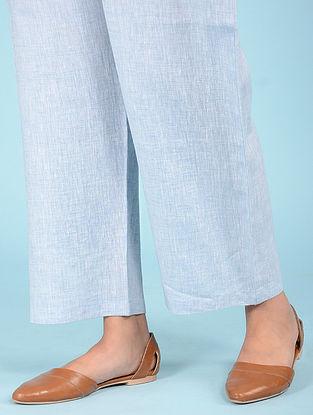 Pale Blue Elasticated waist Linen Pants