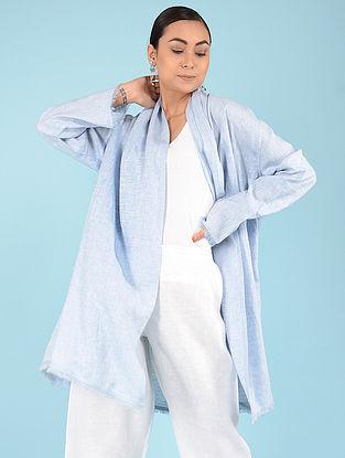 Pale Blue Linen Jacket