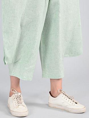 Aqua Elasticated-waist Linen Pants