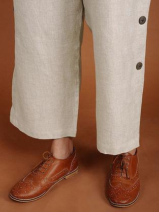 Nina Ivory Linen Pants